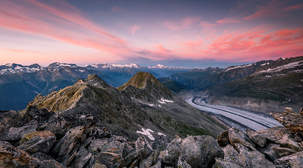 Aletsch Glacier Morgenrot