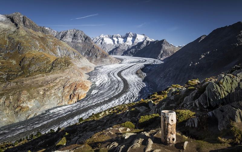 Aletsch Glacier Autumn 2