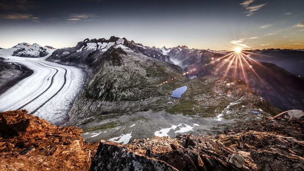 Aletsch Glacier Sunrise Märjela