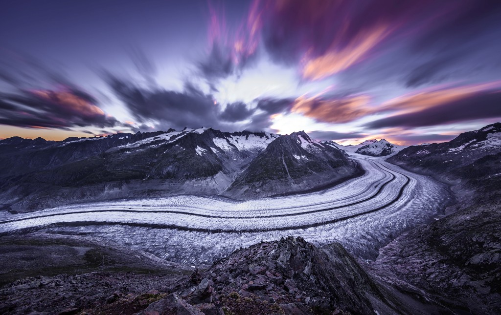 Aletsch Glacier Fire and Ice