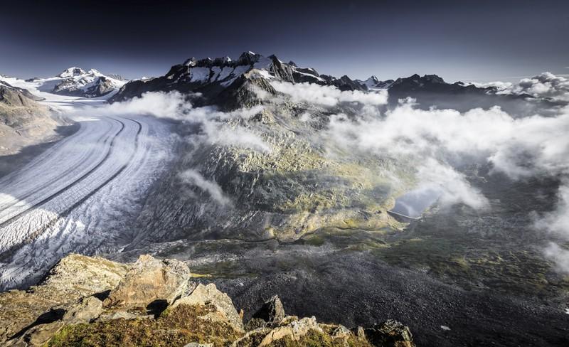 Aletsch Glacier Morninglight Märjela