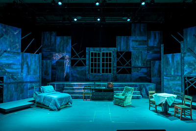 Valencia College Theater unfinished set for Rhinoceros due to the covid19 outbreak.