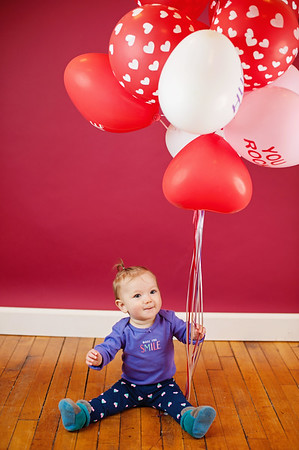 Valentines day mini session Evie