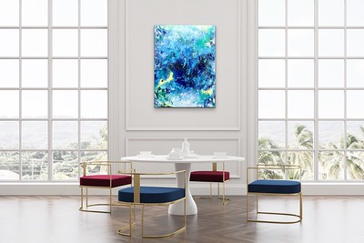 Swirling Waters  - in room setting