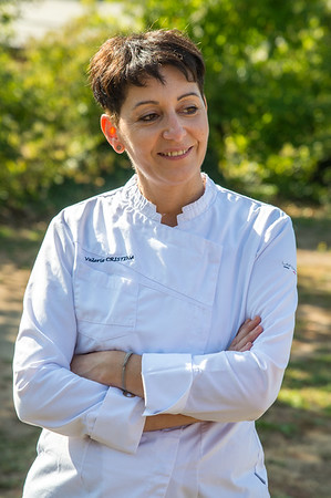 Lunch and visiting with Chef Valerie Cristina at Restaurant 2 La Gare, Saint Romain de Popey, France on Friday, September 20, 2019.