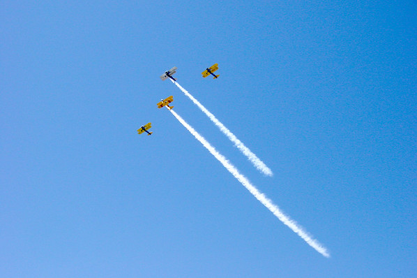 Another new addition to this year's show...biplanes! (Photo by Valerie)