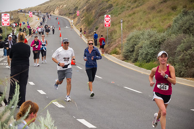 Eric chases number 661 towards the finish of the half marathon (Photo by Valerie Iwasaki)