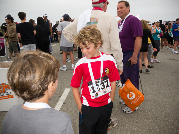 Mateo ran the 5K (Photo by Valerie Iwasaki)