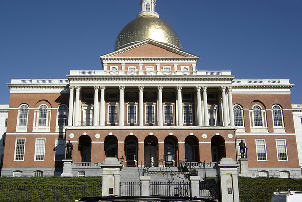 I walk by the Massachusetts State House
