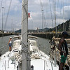 Daylight travel through the Panama Canal - by Vicki Shea on V50 ErinBrie