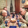 photo by Lisa ~  ~  Huffing and puffing by Paul and Andre<br />  - Paul, Steve, Andy, Andre<br /> Both Paul and Andre blow out candles. Andre's birthday was on April 11th.