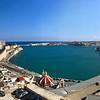 Panorama shot of Valletta harbour