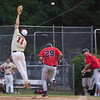 06/19/2010 - Haymarket at Covington : The Haymay Express chugged to the farthest reaches of the VBL and came back with a rainy shutout of the 'Jacks.  Haymarket 7 - Covington 0