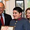 January 21, 2017: New Day USA Foundation Scholarship presentation to cadet Christian Rachiele  at Valley Forge Military Academy. Photos by Joan Fairman Kanes