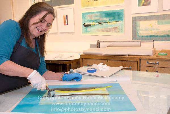 Patty Castellini, monotype printmaker