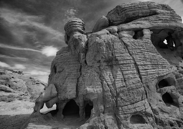 Valley of Fire, Nevada B&W