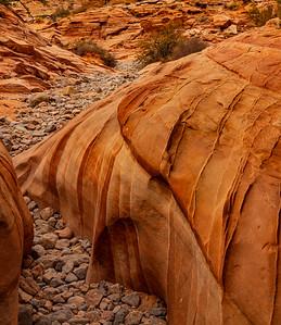Straited Sandstone on the White Dome Trail