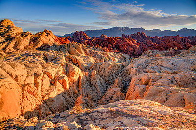 Fire Canyon in the Valley of Fire as the Sun Sets