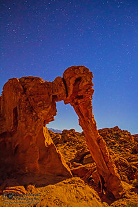 Elephant Rock by Moonlight, Valley of Fire, Nevada