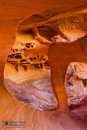 """""""Wind Tunnel,"""" Windstone Arch (Fire Cave), Valley of Fire, Nevada"""