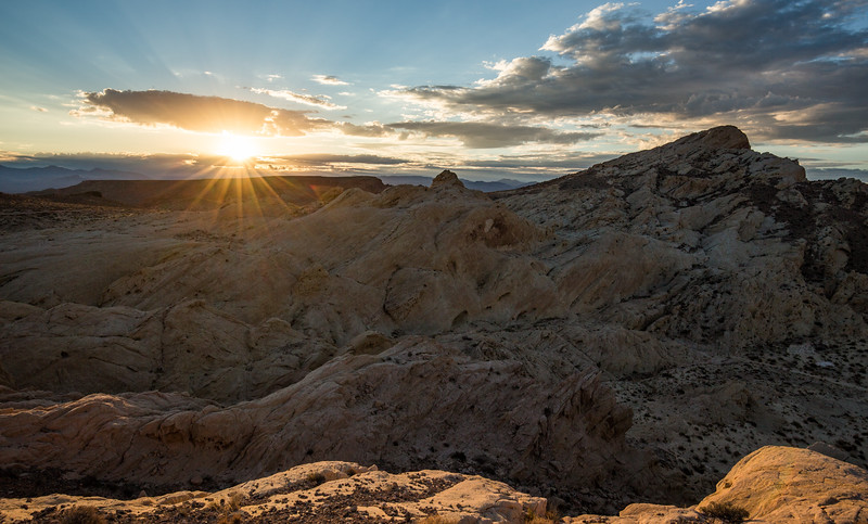 Sunrise over the Silica hills of Valley of Fire State Park, Nevada