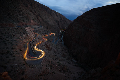 Dades Gorges Light Painting