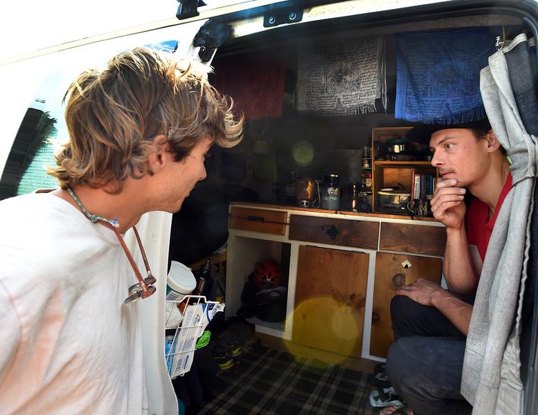 Living in his Van