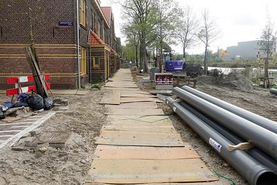 Nederland, Amsterdam, 26 oktober 2017, graafwerzaamheden in de van der Pekbuurt, foto: Katrien Mulder
