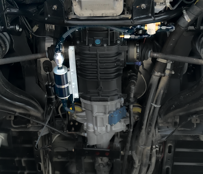 Syncro transaxle gear oil filtering system