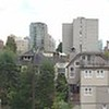View from rooftop patio of Hostel International Downtown Vancouver.