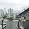 View of southern Vancouver downtown coast from Granville Island.