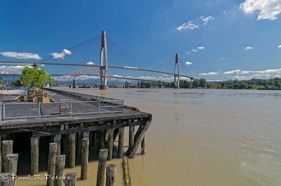 New Westminster, BC - the sky train bridge crossing of the Fraser River
