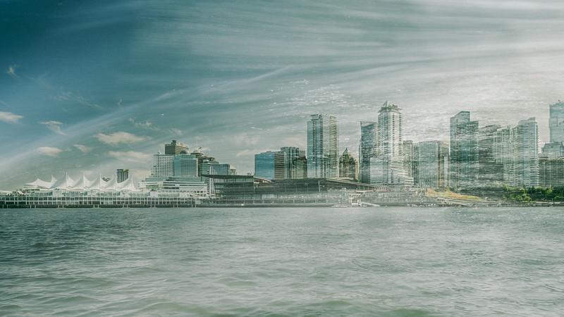 Vancouver Skyline - Double Exposure III