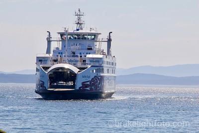 The Salish Eagle approaching Otter Bay