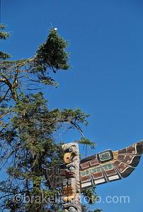 Totem Poles & Bald Eagle
