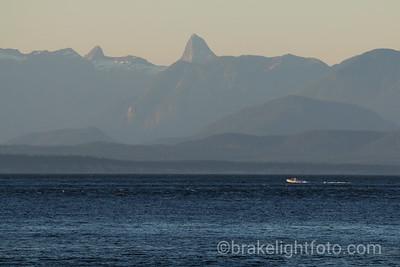 Coast Mountains from Bates Beach