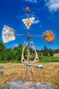 Sculpture at Zanatta Vineyard & Winery