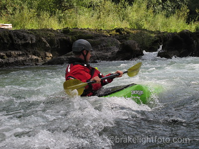 Whitewater Kayaker on Cowichan River