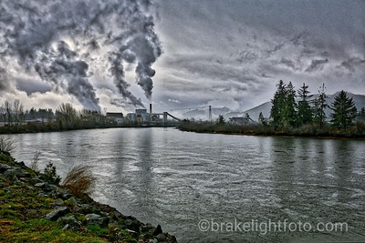 Somass River and the Port Alberni Pulp & Paper Mill