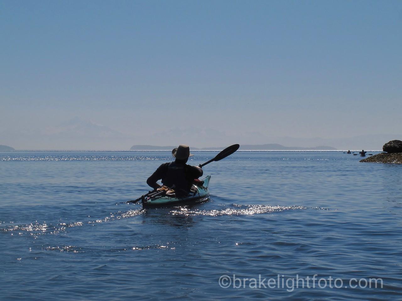Kayaker off Narvaez Bay