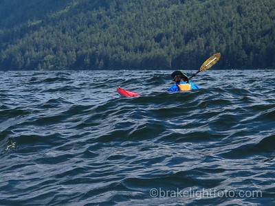Kayaking off Saturna Island
