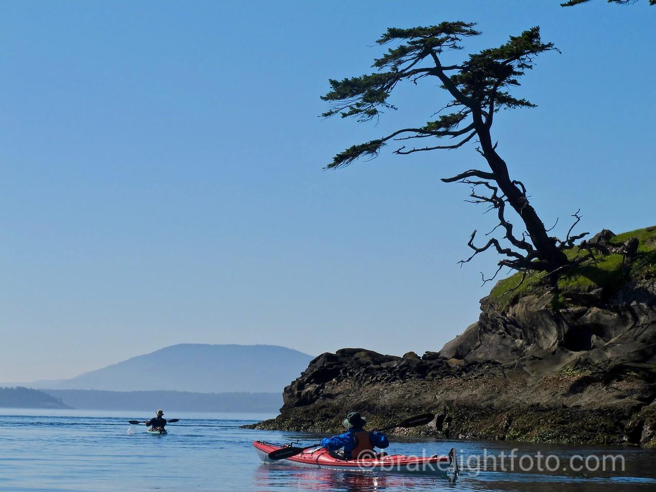 Kayaking around Monarch Head