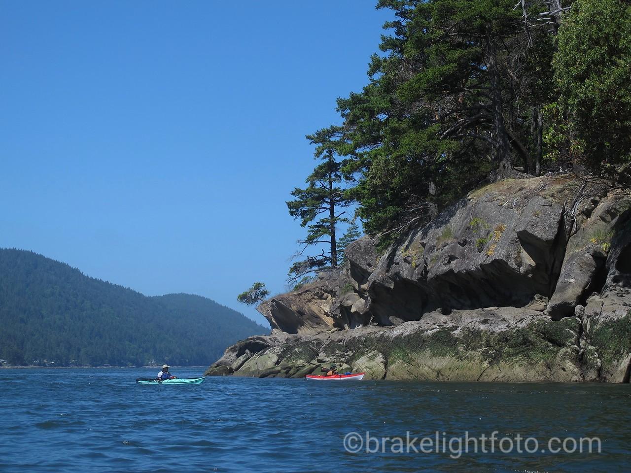 Kayakers off Tumbo Island