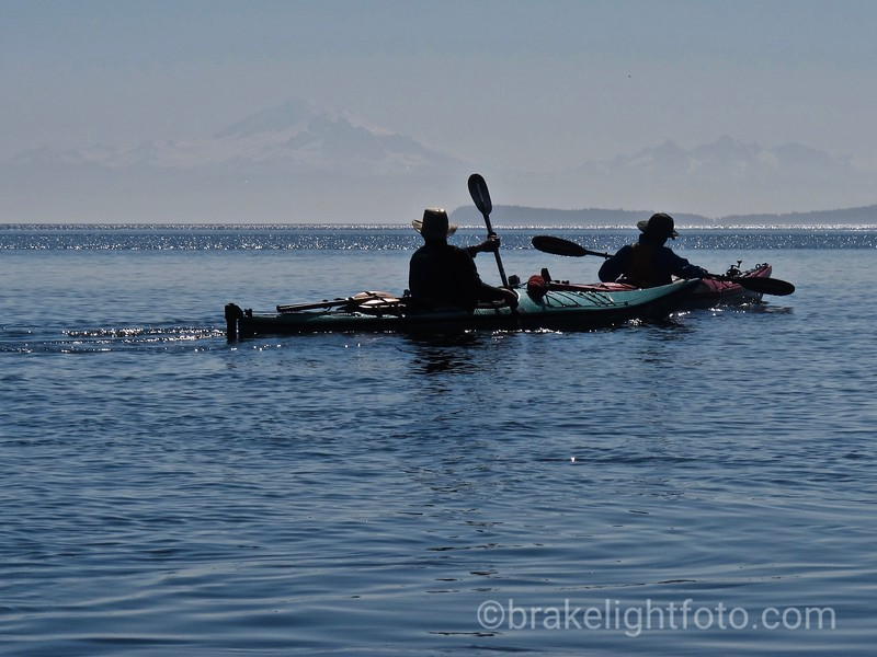 Kayakers leaving Narvaez Bay