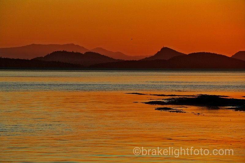 Sunset Over Saturna Island