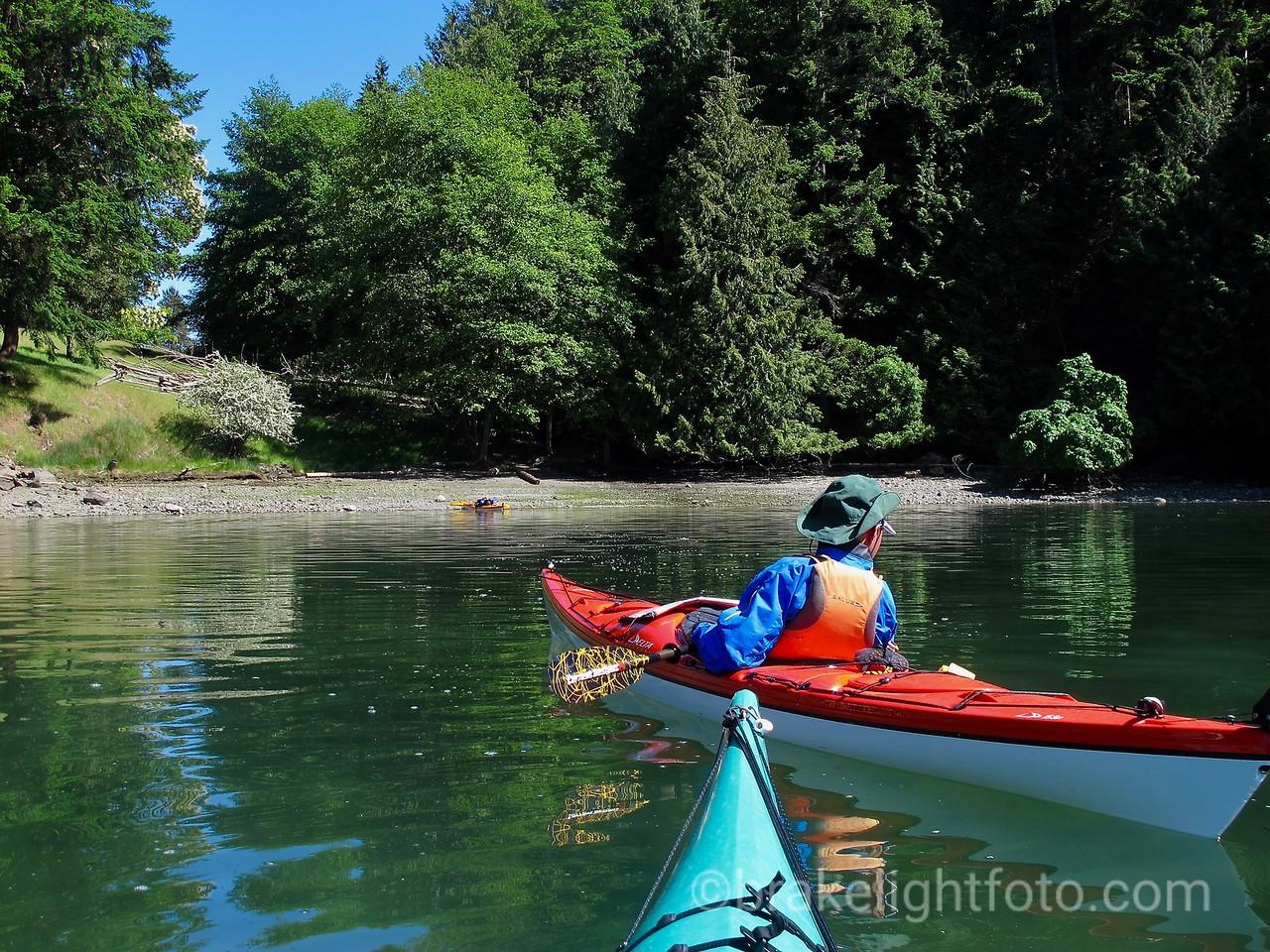 Kayakers in Narvaez Bay