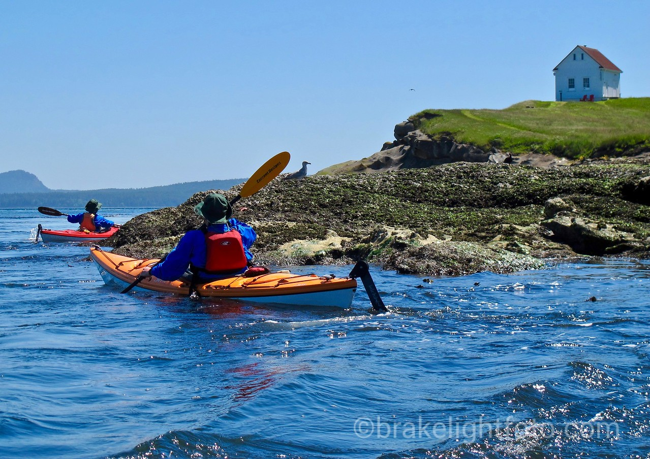 Kayakers at East Point, Saturna Island