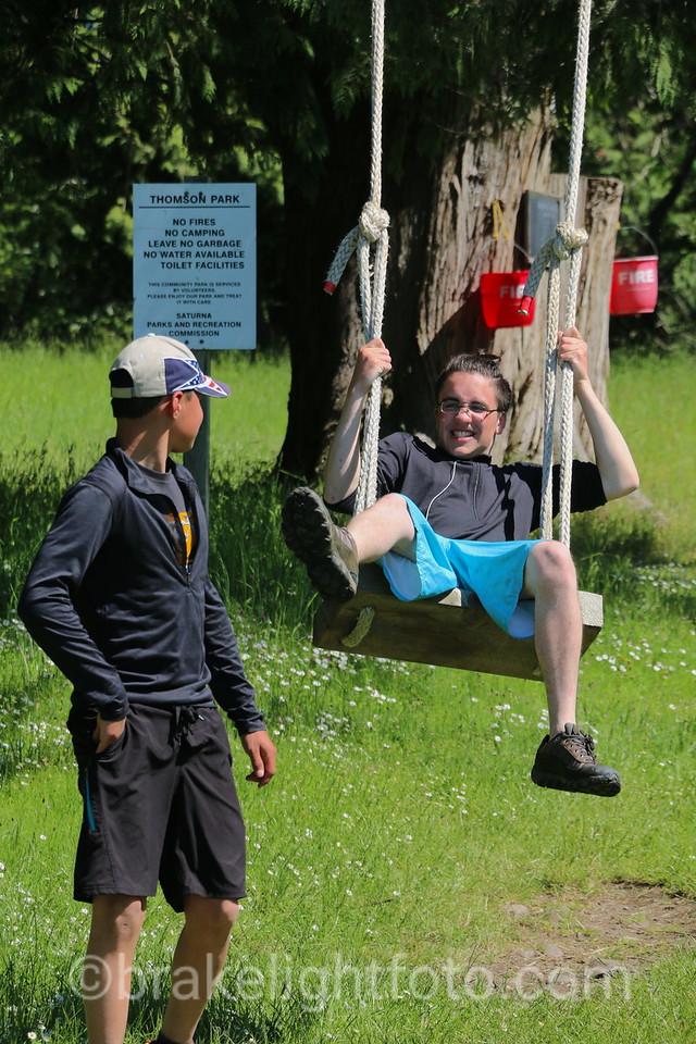 Swinging in Thompson Park