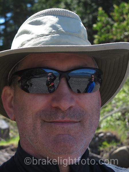 Saturna Beach Reflected in Sunglasses