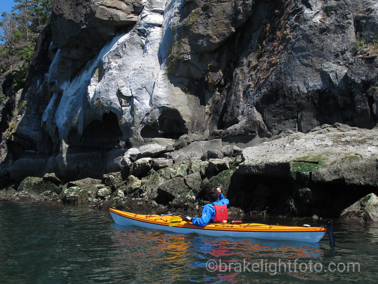 Sea Kayaking below the Elliot Bluffs